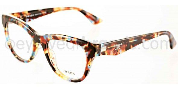 5b955046cd1 Prada PR 04QV Prada PR04QV NAG101 Tortoise Blue Prada Glasses