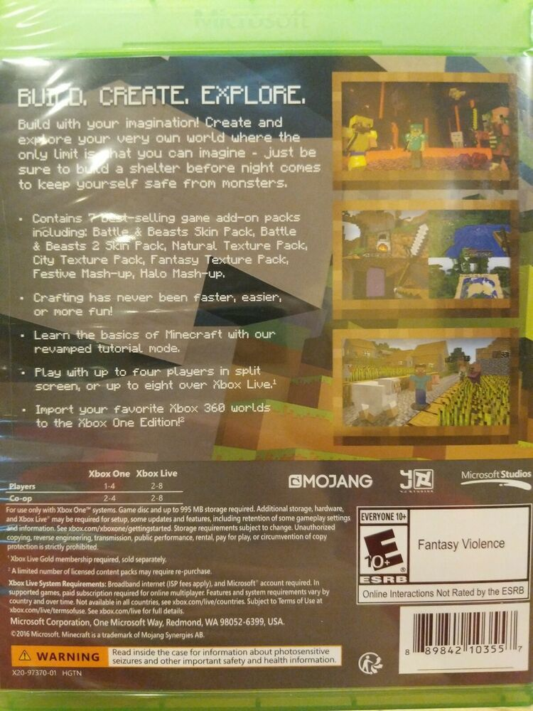 Minecraft Xbox One Edition Includes Favorites Pack Bonus