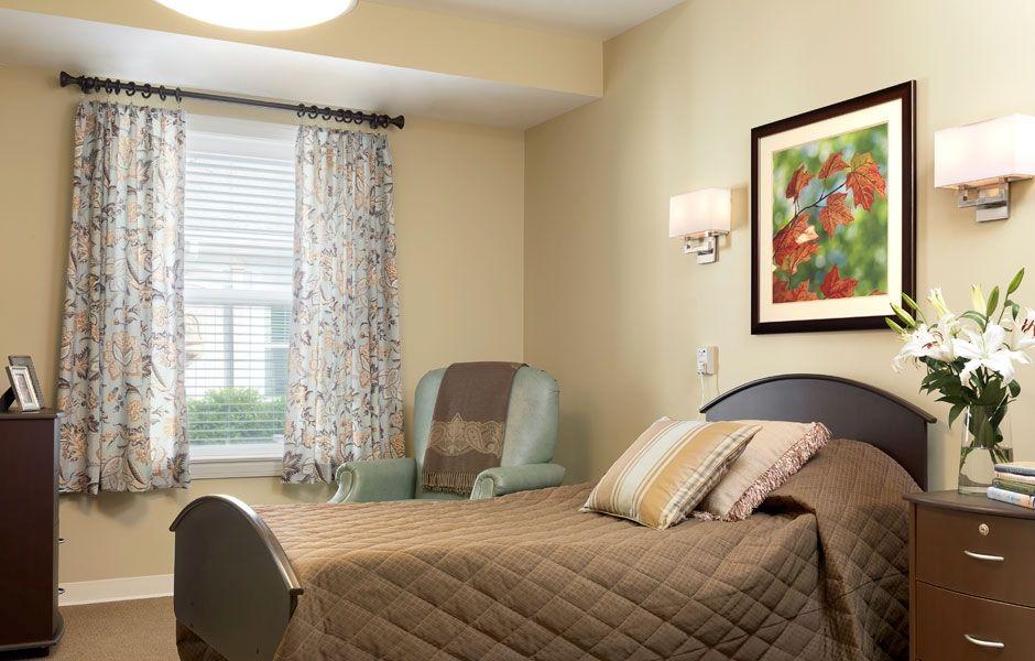 Rolling Green Village Resident Room Senior Living