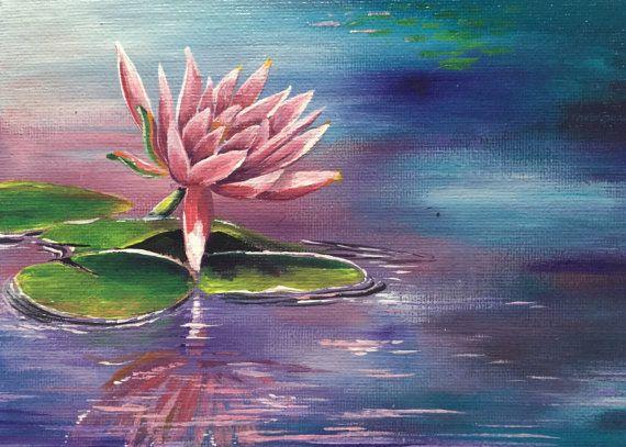 Nenuphar Peinture Acrylique Livraison Gratuite De Uk Avec