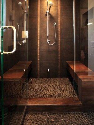 Bathroom Decoration like the idea of bench, large shower