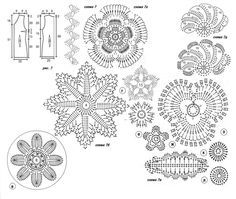 Elegant irish crochet flowers free patterns irish+crochet+lace+free+patterns #irishcrochetflowers