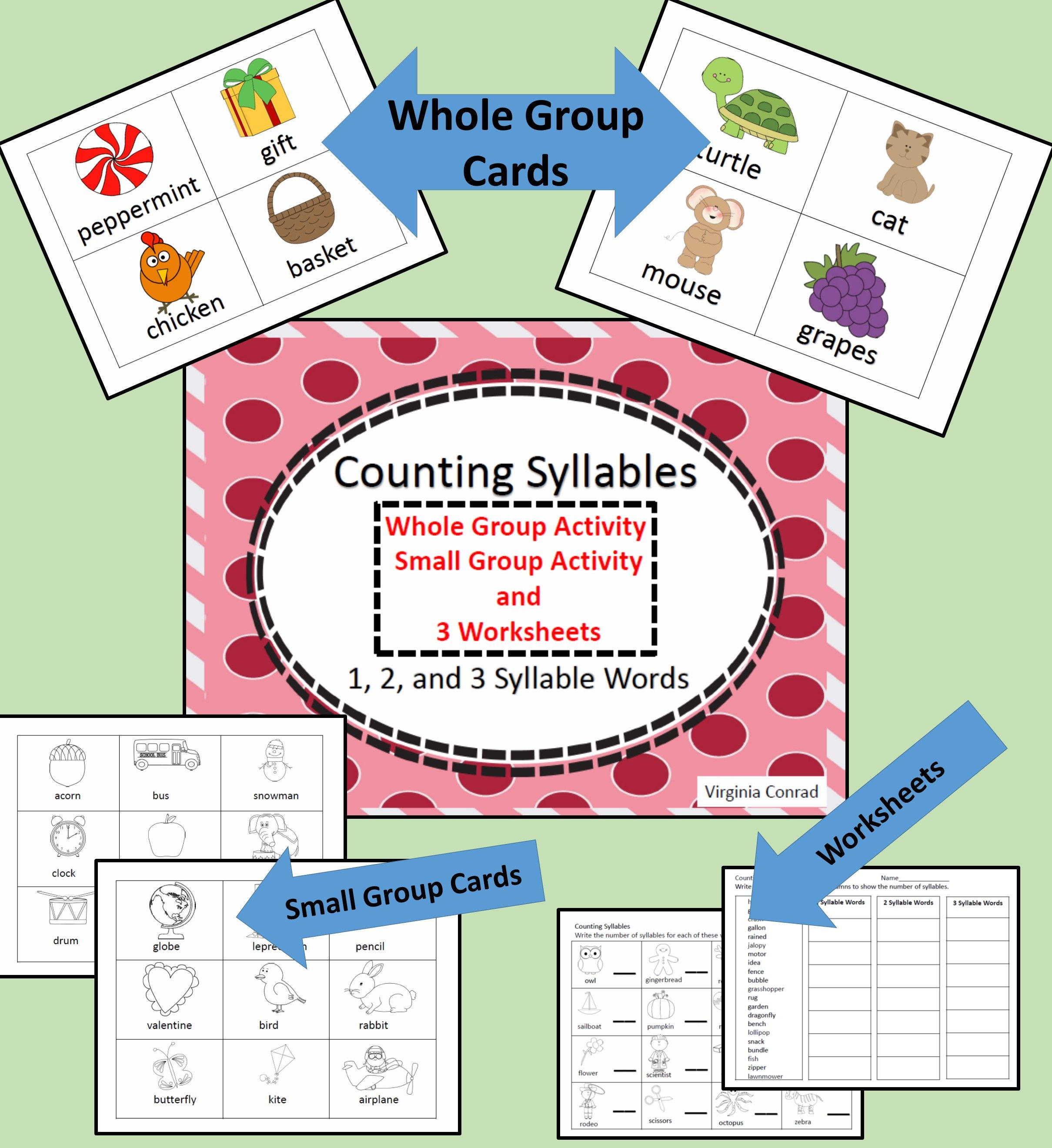 Syllables Activities And Worksheets