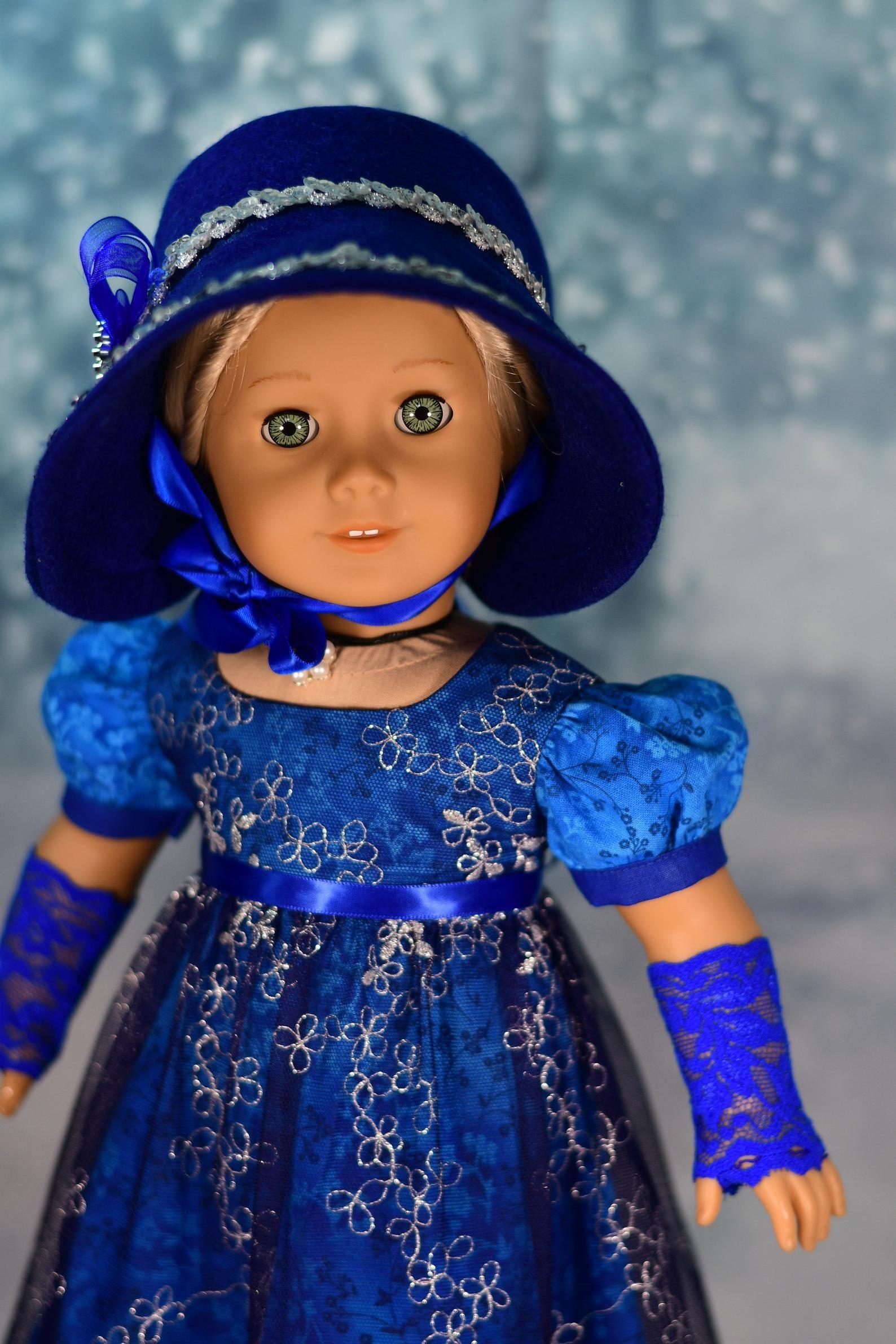 Photo of PDF Doll Clothes Dress Pattern Jane Austen Regency Fits 18″ …