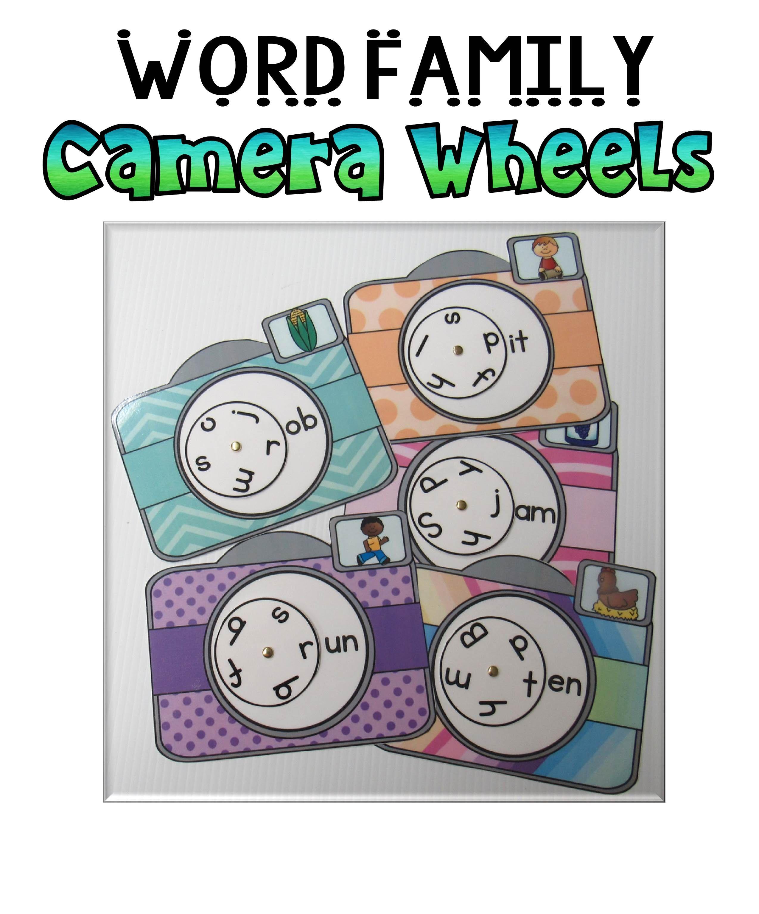Word Family Camera Wheels Set