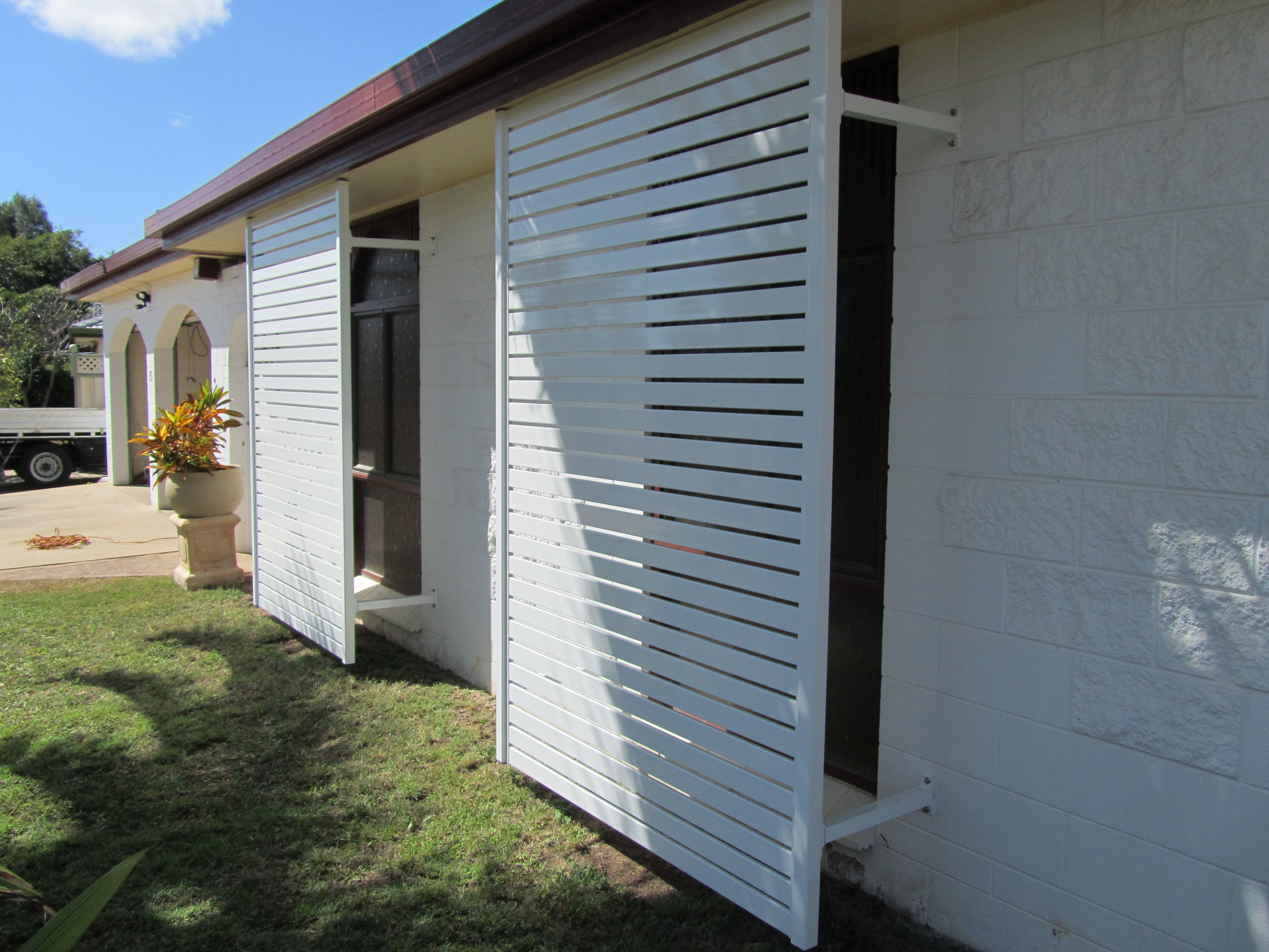 Slatscreens Are On Trend For External Window Coverings Exterior