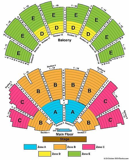 Ryman Auditorium Seating Chart (via Ticket Seating) Music City