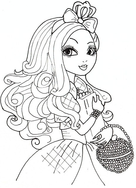 apple coloring pages for adults - free printable ever after high coloring pages apple white