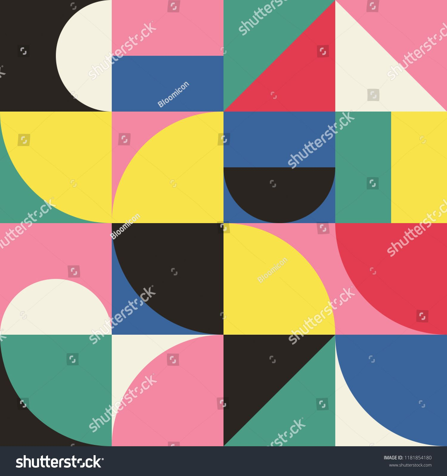 Geometry minimalistic artwork poster with simple shapes and figures abstract vector pattern design in scandinavian also halftone lined background effect patternnes rh pinterest