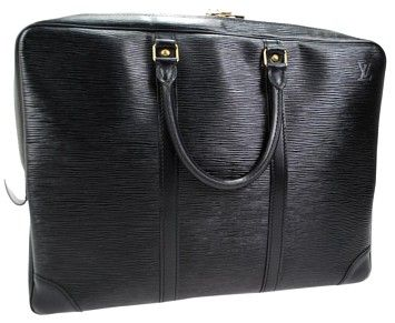 Beautiful Black Epi Leather Louis Vuitton briefcase/computer holder. This bag is in perfect condition and does not show any wear! One pocket is sticky and peeling but thats the only problem with the bag! Great for a male or female--100% authentic. Please message with any questions. 252307