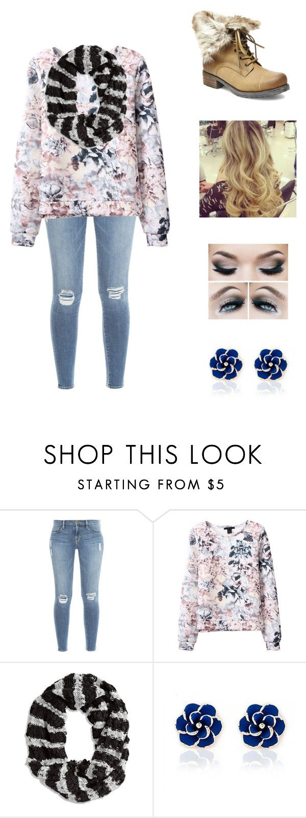 """""""Floral and striped"""" by petite-chic ❤ liked on Polyvore featuring Frame, Chico's, Ciroki and Steve Madden"""