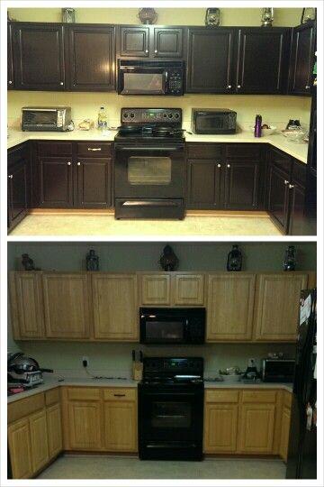 kitchen cabinets java gel stain kitchen remodel staining cabinets updated kitchen on kitchen cabinets java id=30004