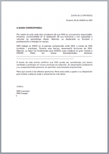 Ejemplo De Carta De Recomendación Estándar Carta De Referencia Carta De Referencia Cartas De Recomendacion Ejemplo De Carta
