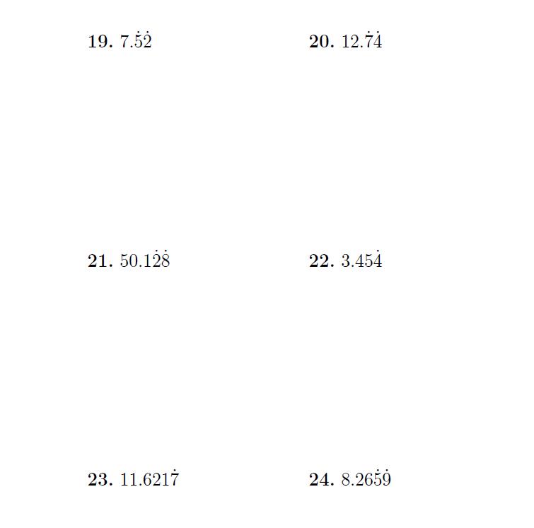 recurring decimals to fractions a worksheet on converting recurring  recurring decimals to fractions a worksheet on converting recurring  decimals to fractions detailed solutions are provided