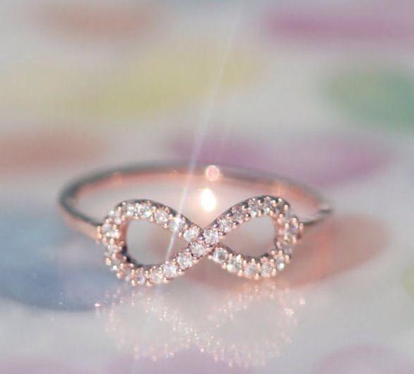 White gold infinity ring Promise ring please I do