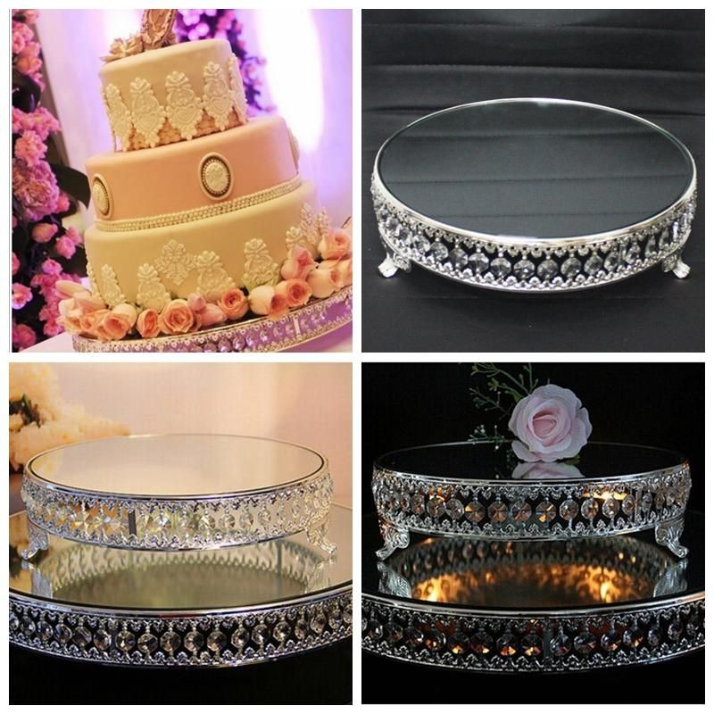 Luxurious Mirror Cake Stands Plate For Wedding Birthday Home Hotel