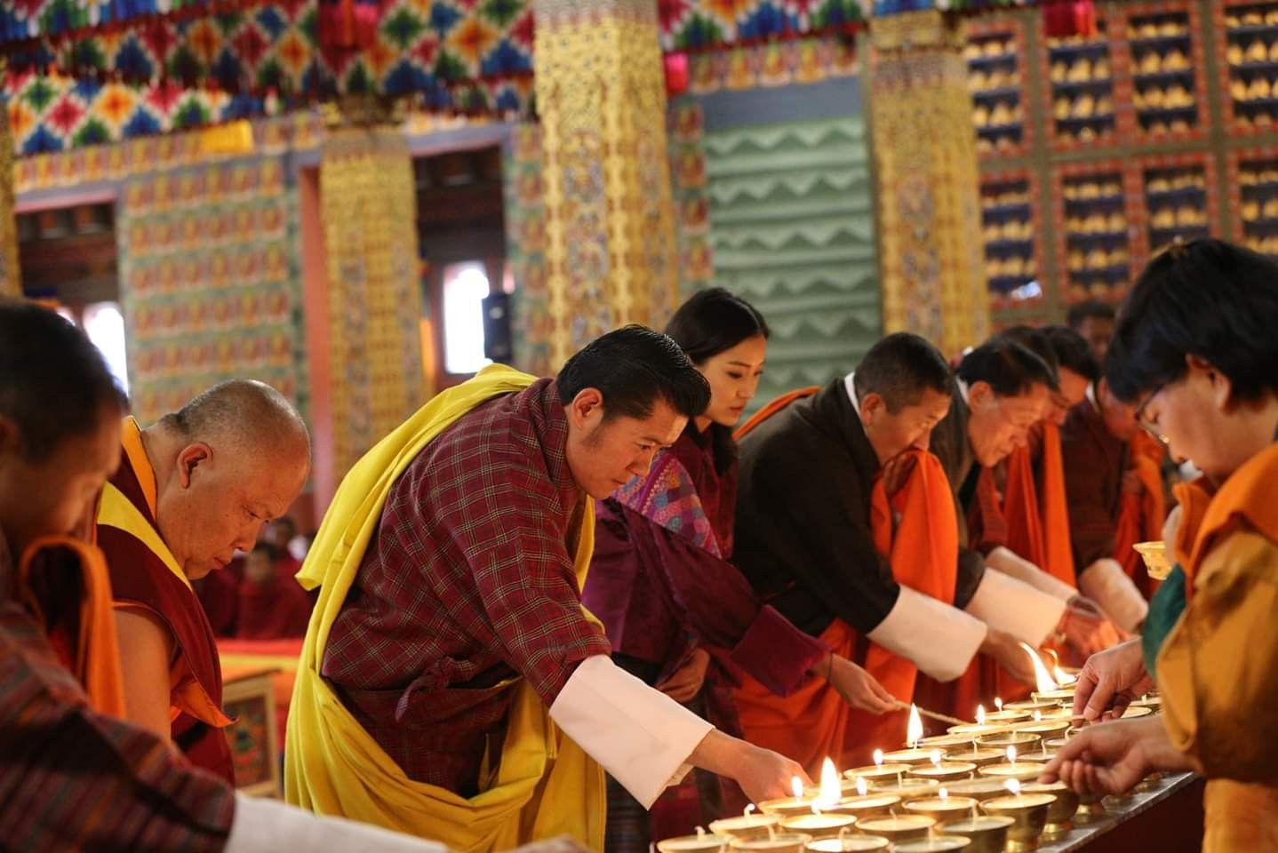 On Behalf Of The People Of Bhutan His Majesty The King And Her Majesty The Gyaltsuen Offered Prayer Bhutan Special Prayers Prayers