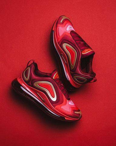 NIKE AIR MAX 72 GS 'TEAM CRIMSON' | Nike air max 720, Nike, Nike ...