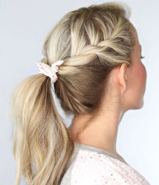 16 Easy Twisted Hairdos You Can DIY. Simple School HairstylesEasy ...