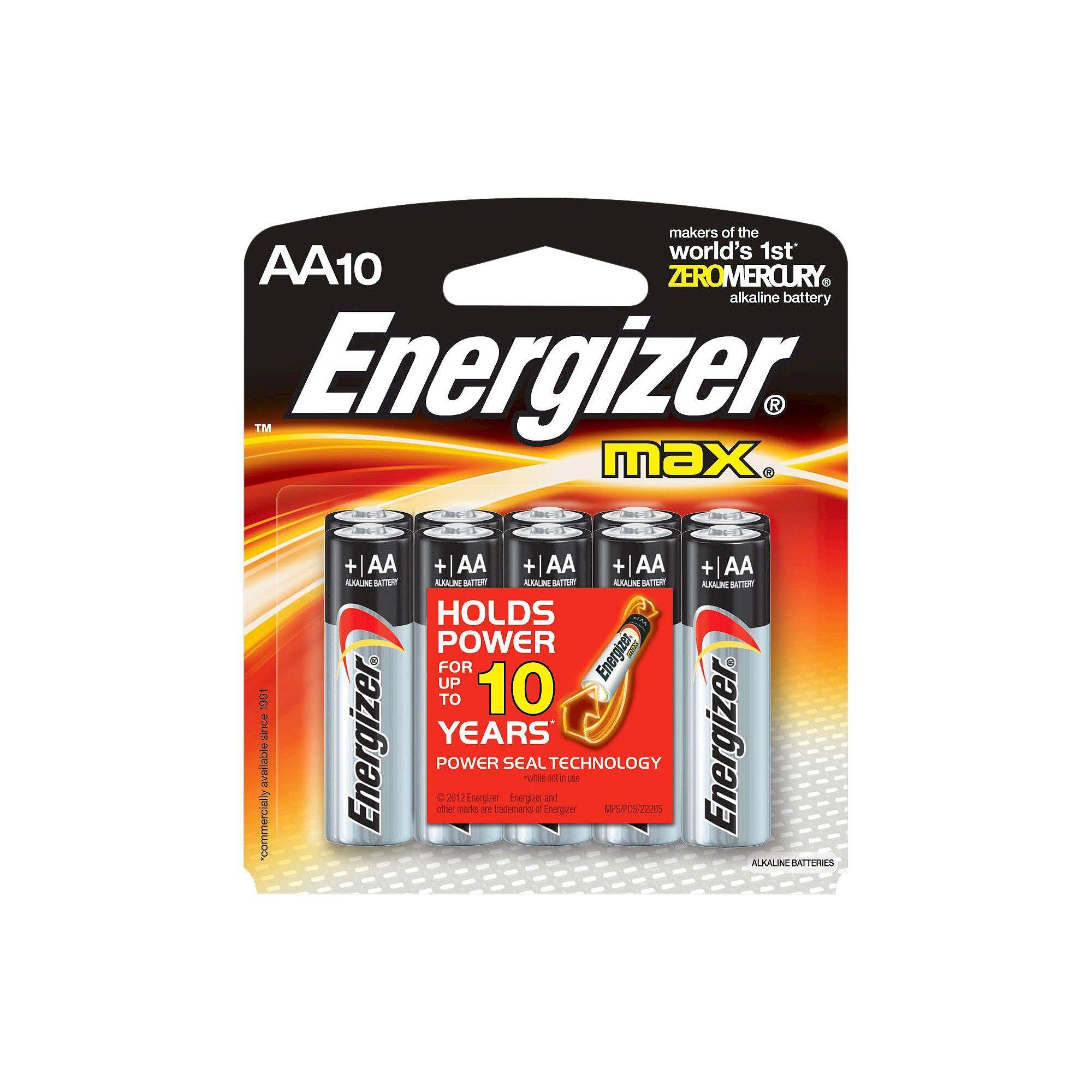 Energizer 10pk Max Alkaline Aa Batteries Energizer Energizer Battery Alkaline Battery