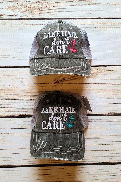 ef33ee3c03df3 Lake Hair Don t Care Hat Trucker Hat by Jane Divine Boutique  www.janedivine.com