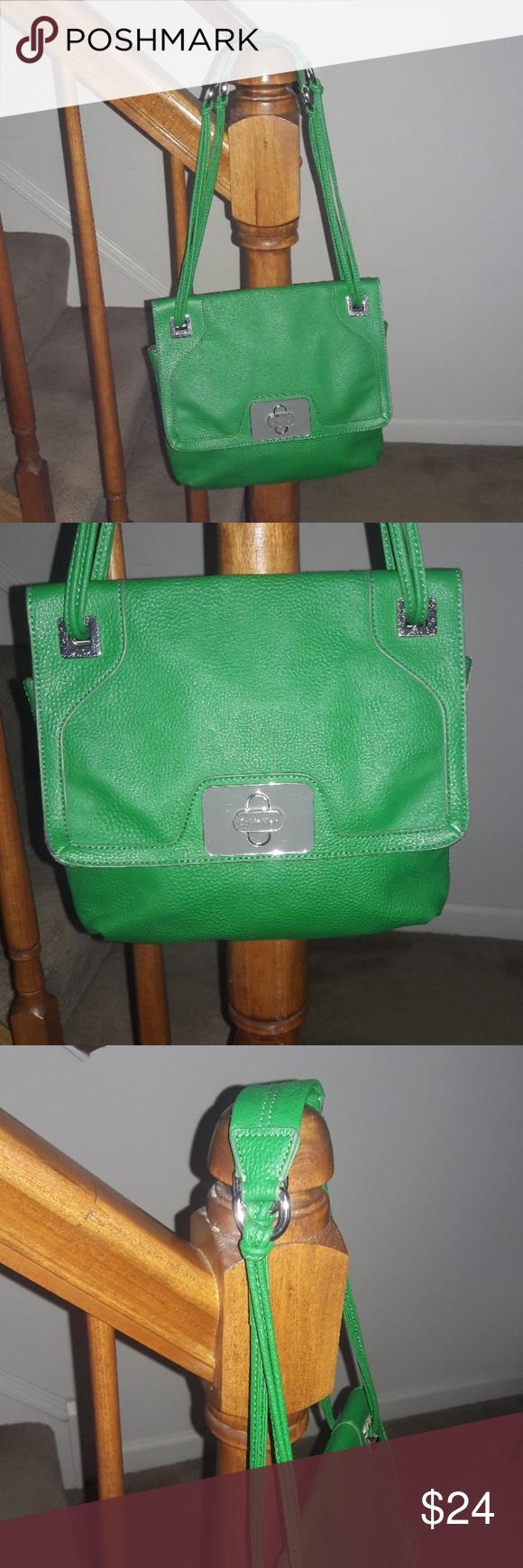 eede3c4e0bf Calvin Klein Handbag Purse Green Shoulder Bag   Calvin klein ...