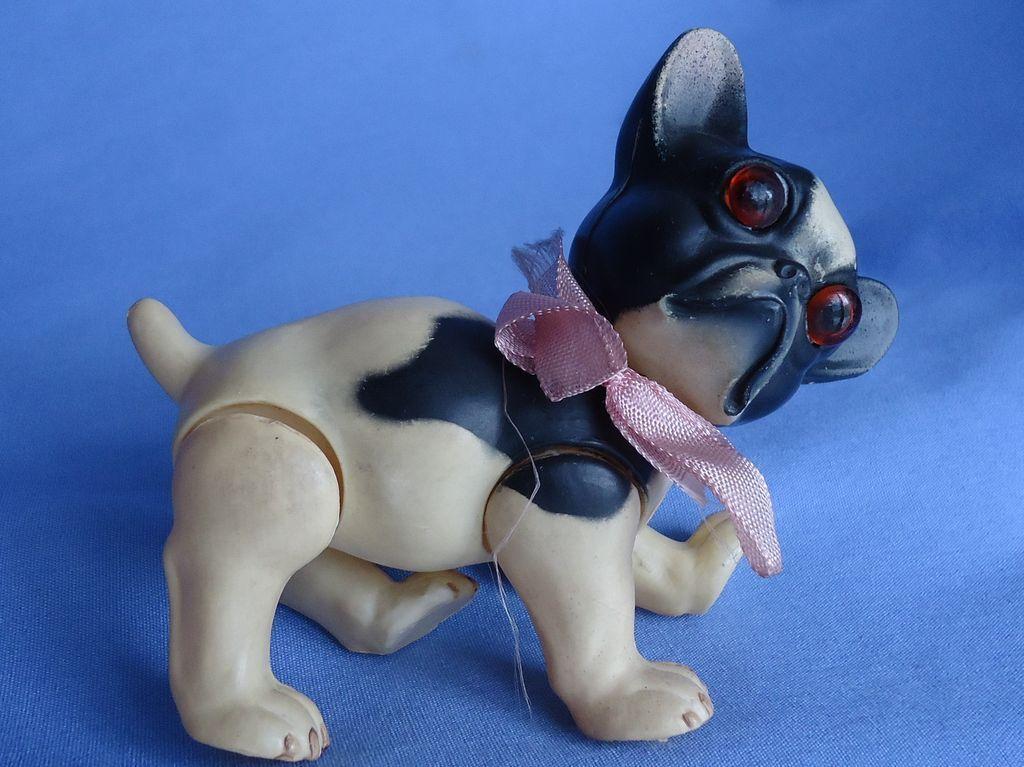 Rare French Bulldog Juno Germany Celluloid Toy French Bulldog