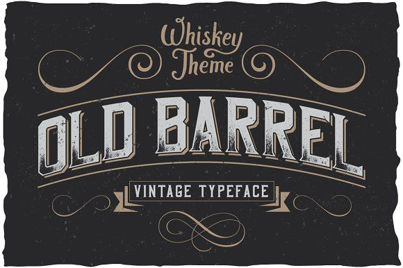 OldBarrel Vintage Typeface - strong and dynamic label style for any