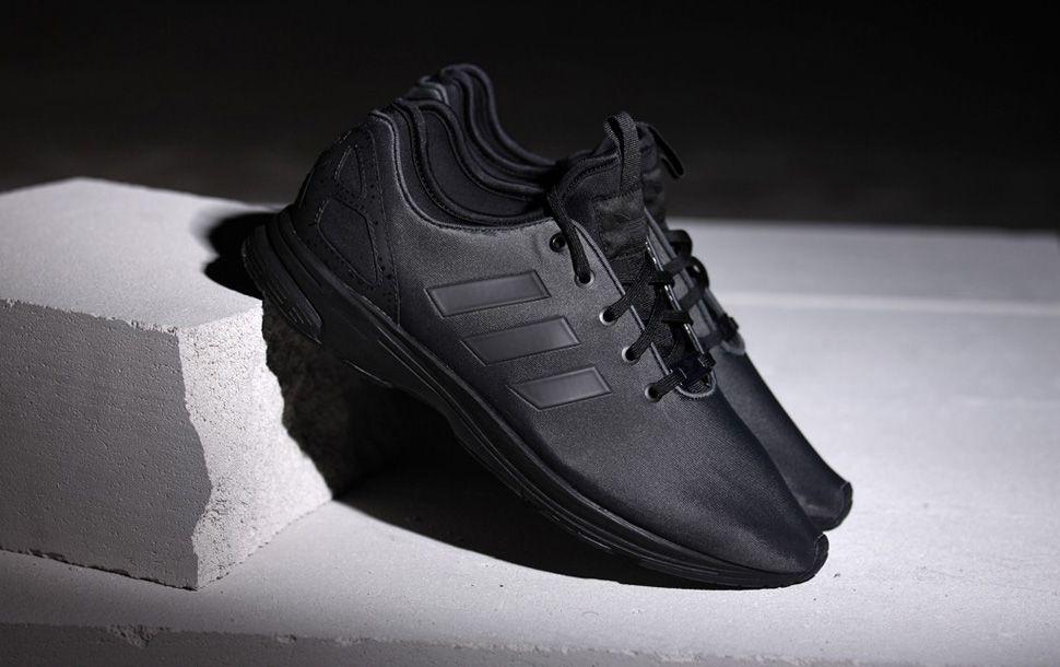 """f43364923fb8  adidas ZX Flux Tech NPS """"Triple Black""""  sneakers"""