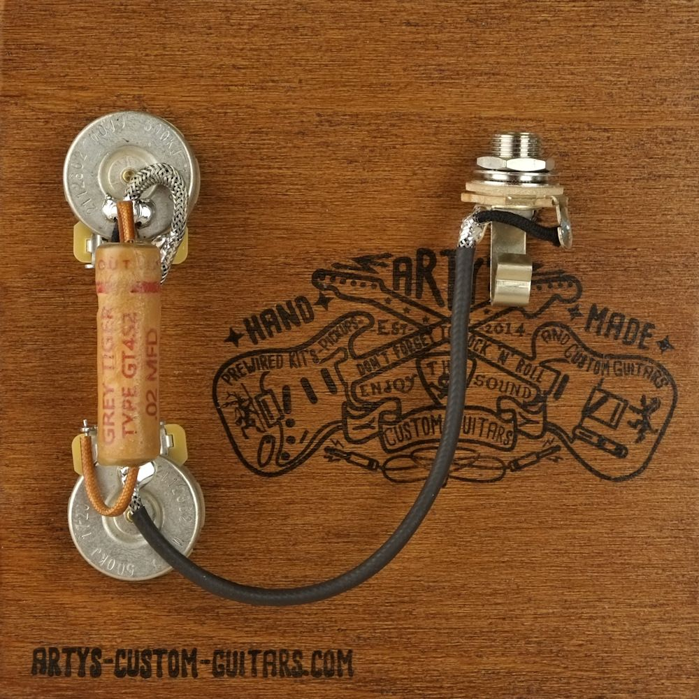 arty s custom guitars vintage pre wired prewired kit wiring assembly harness set artys les paul [ 1000 x 1000 Pixel ]