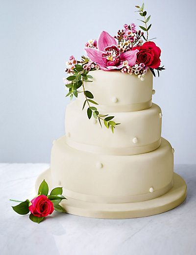 Romantic Pearl Assorted Wedding Cake (Ivory Icing) Cakes