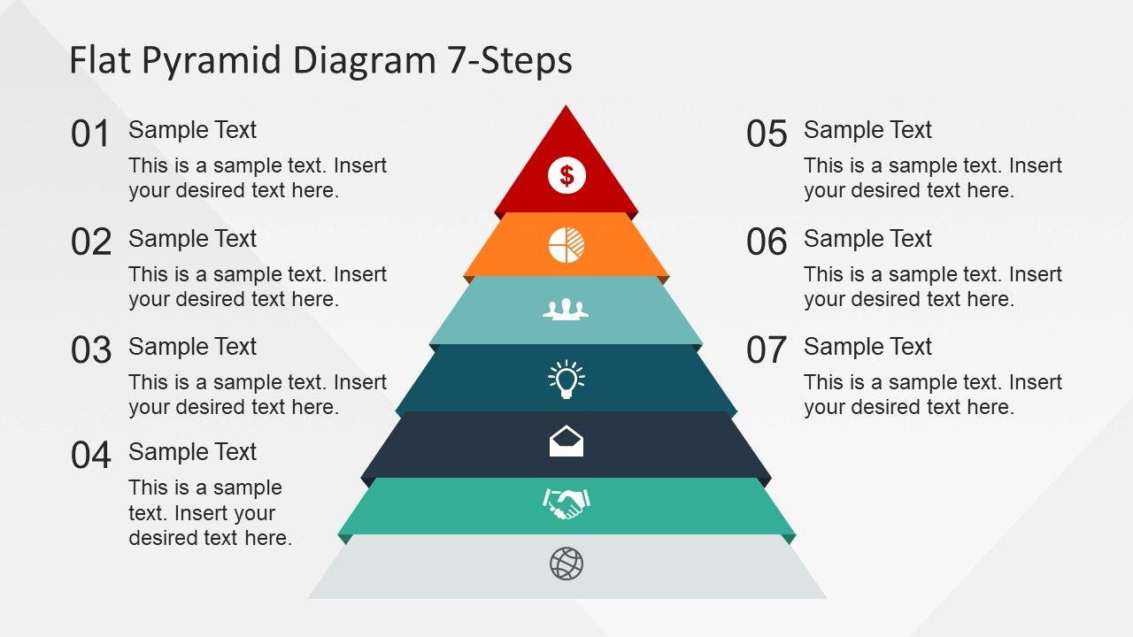 7 Steps Flat Pyramid Powerpoint Diagram Slidemodel Powerpoint Slide Designs Powerpoint Design Powerpoint Templates