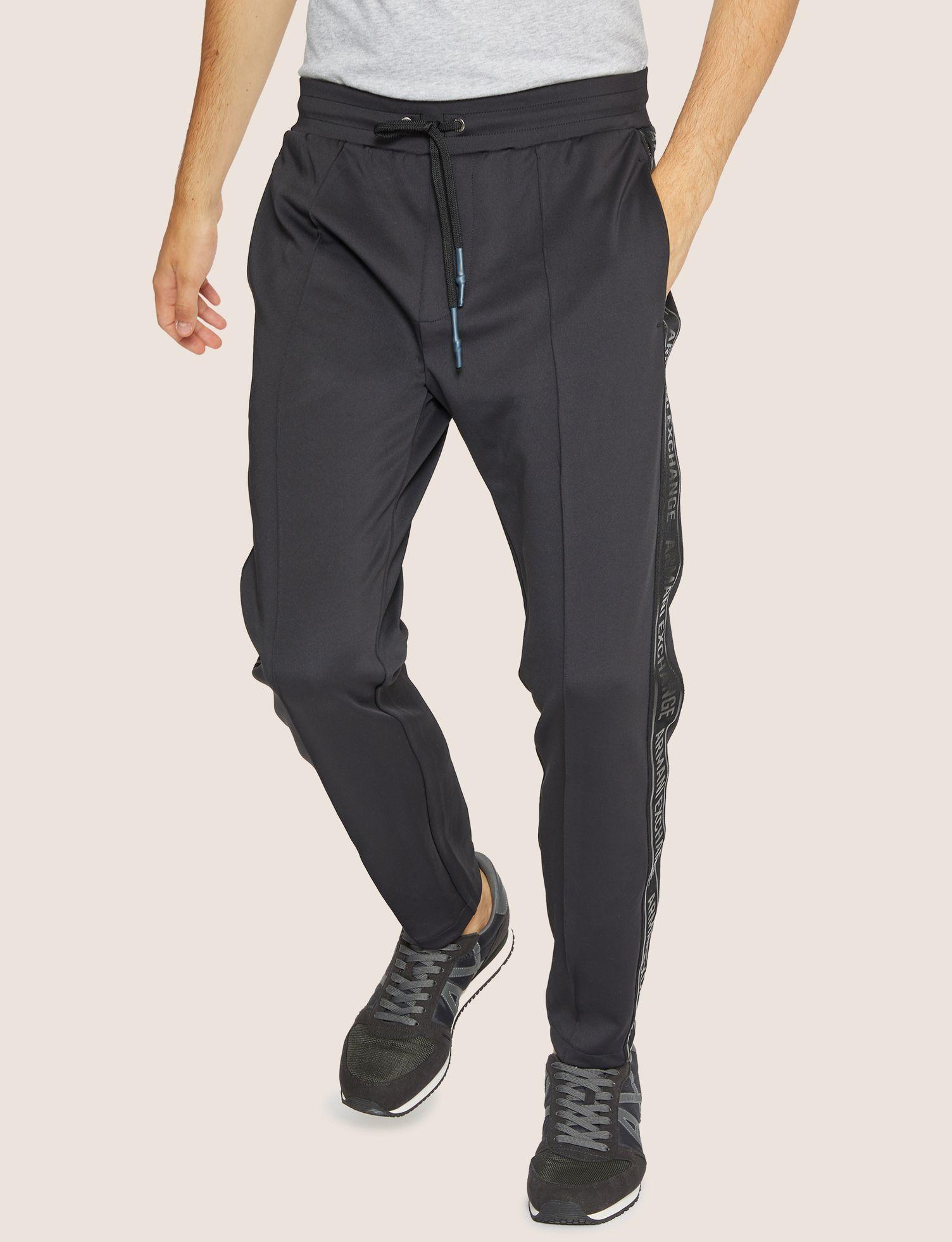 61387b42b0 ARMANI EXCHANGE HIGH-SHINE LOGO TAPE SWEATPANT Fleece Pant Man f ...