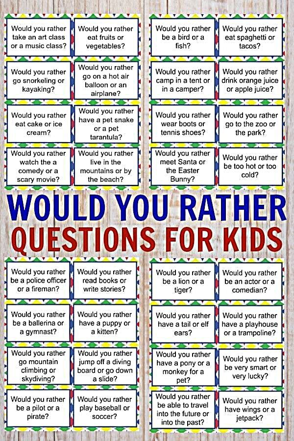 Would you rather questions for kids are a great way to make dinner time more fun. These free printable would you rather questions will engage your kids too. #printables #freeprintables #familyfun #wouldyourather  - Would you rather questions for kids are a great way to make dinner time more fun. These free printable would you rather questions will engage your kids too. #woadelish #italianfood #like #friends #follow #foodtour #foodislife #bhfyp #foodielife #foodporno #foodmarket #foodyhanoi #food