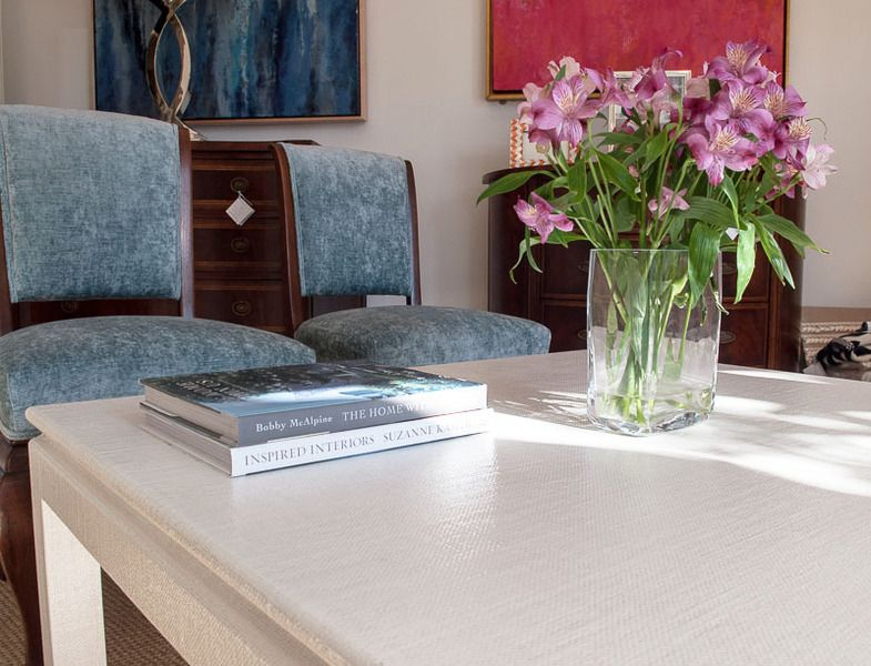 Linen Wrapped Coffee Table Closeup tables Pinterest Linens