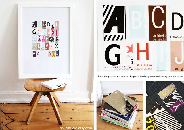 snug.: diy abc-poster