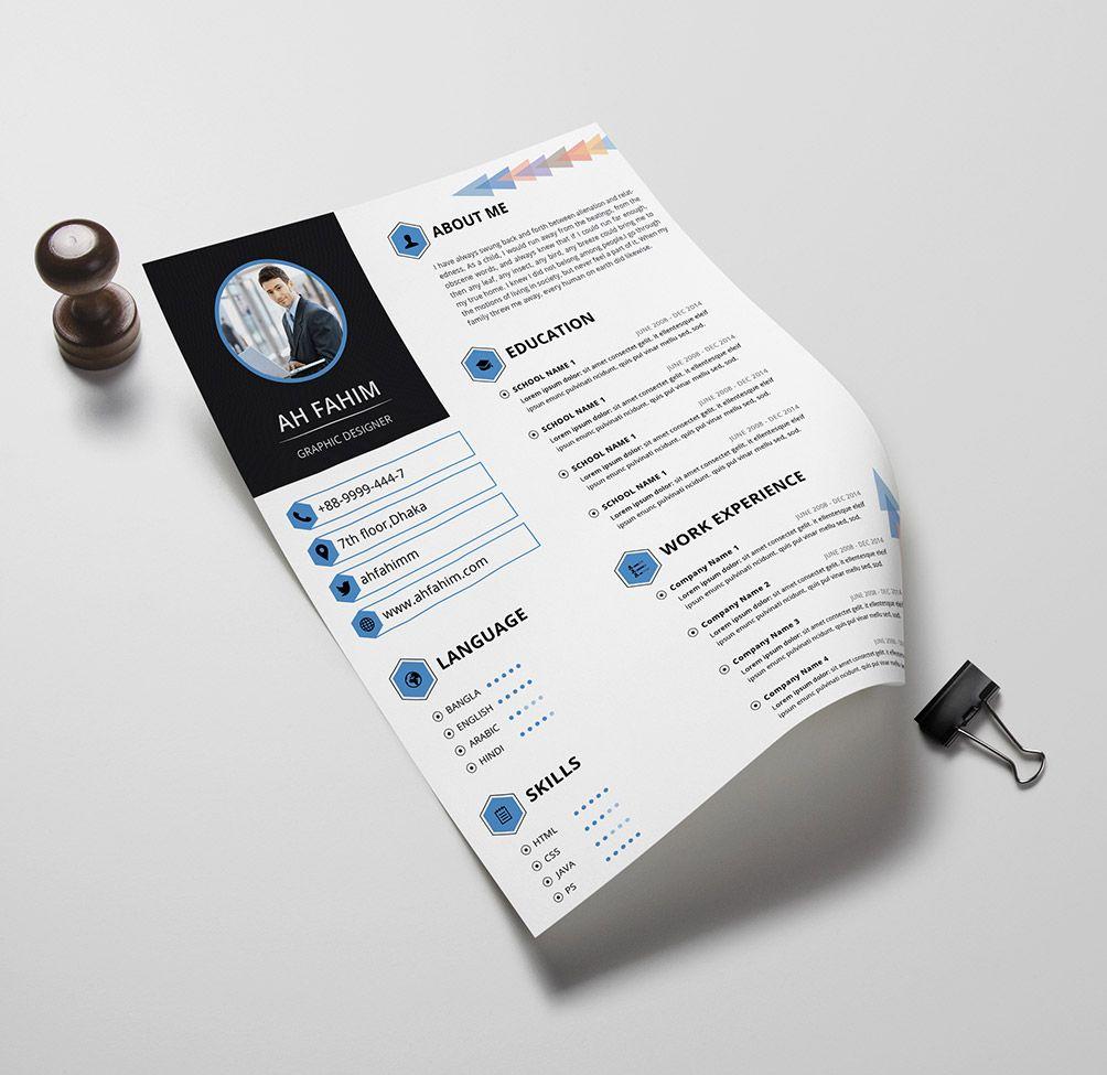 30 EyeCatching Professional and Beautiful Resume Templates