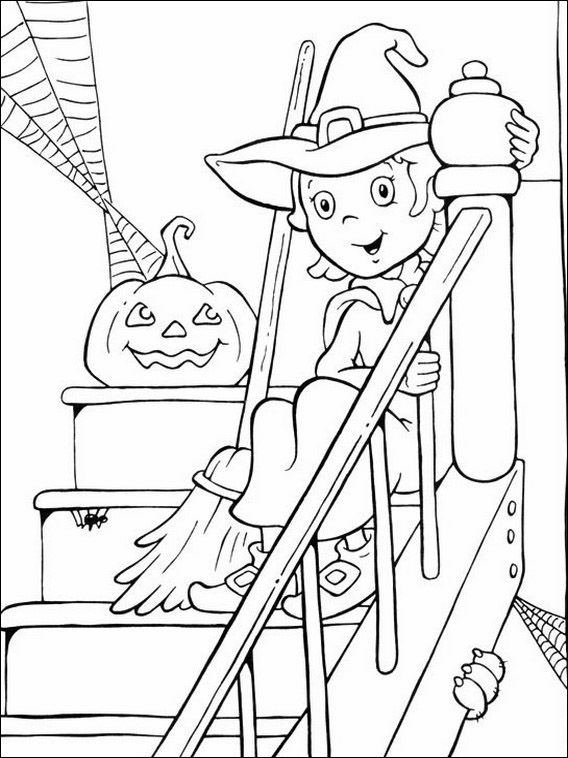 Printable Coloring Pages For Kids Halloween 54 Witch Coloring
