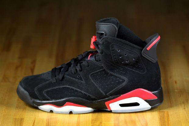 Air Jordan VI Black/Varsity Red   Air jordans, Jordan shoes ...