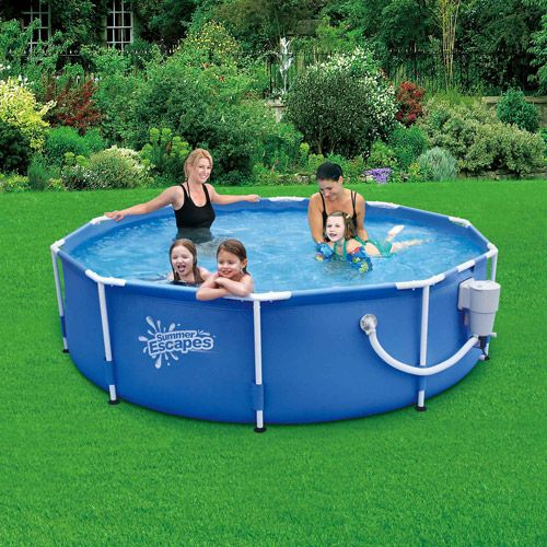 Summer Escapes 10 X 30 Metal Frame Swimming Pool Walmart Com Summer Escape Indoor Swimming Pool Design Pool