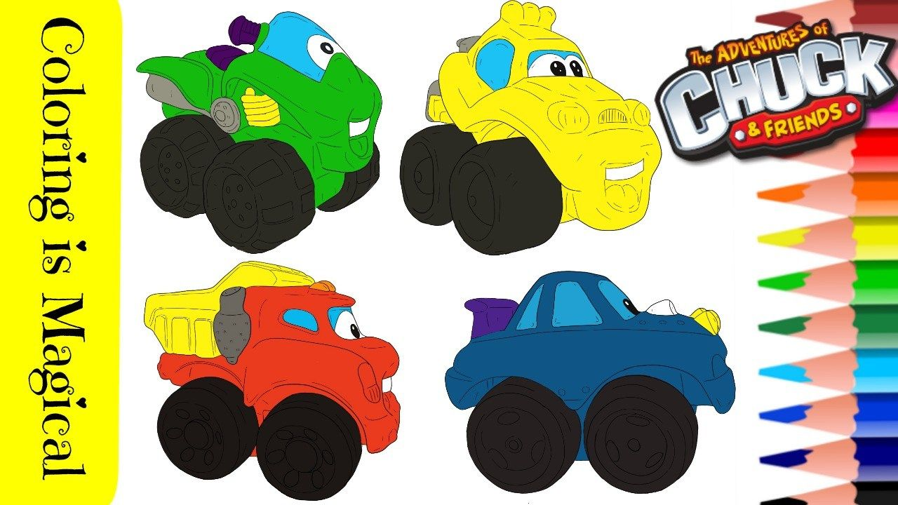 4 Chuck Friends Trucks Hasbro Coloring Page In 2020 Friend Cartoon Chucks Coloring Pages