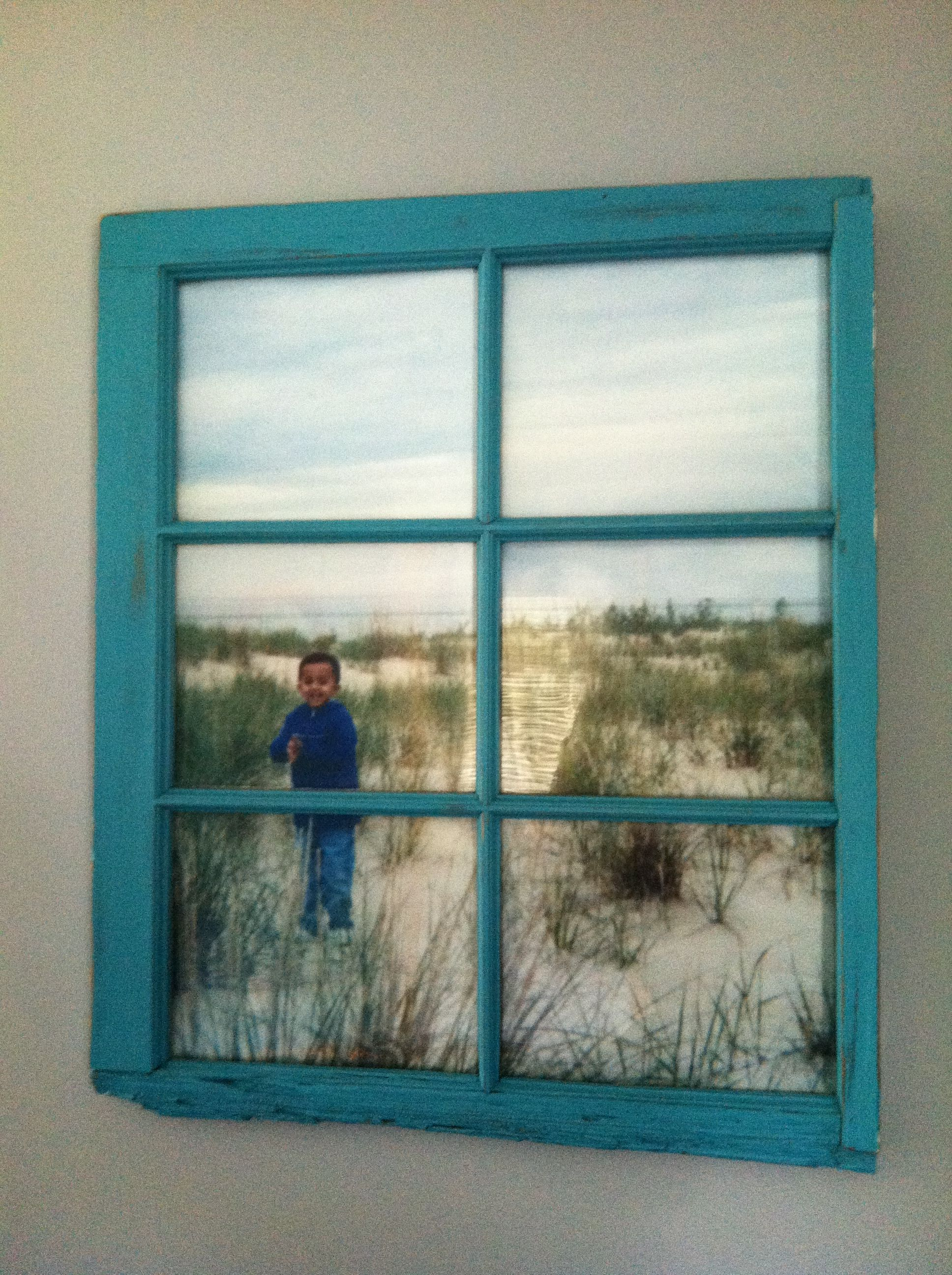 Cherished photo plus old window! I have a window waiting for its ...