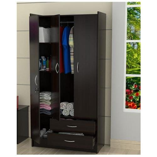 Armoire, Wardrobe, Adjustable Shelves, Hanging Wardrobe, Espresso, Modern, Dark  Wood