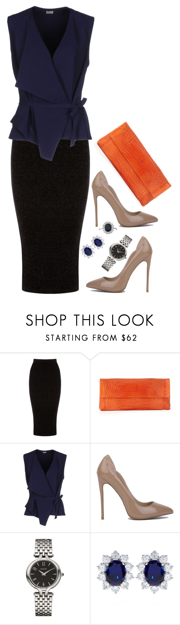 """Watch & Learn"" by jloveespinal ❤ liked on Polyvore featuring Warehouse, Nancy Gonzalez, Mantù, Akira, Balmain and CARAT*"