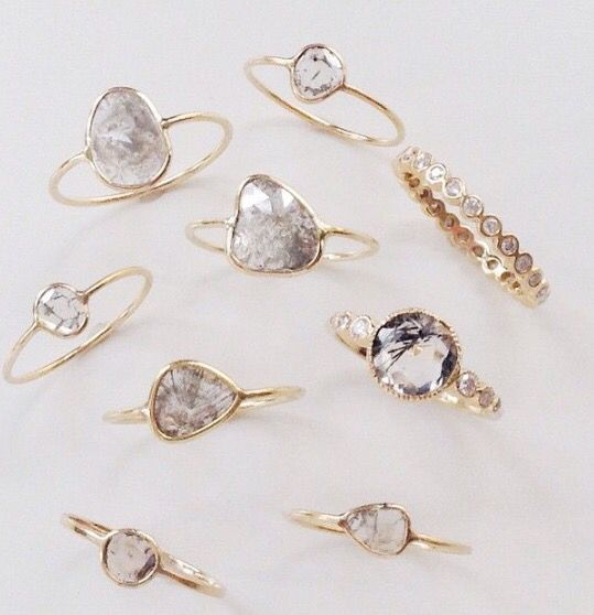 Diamond slice rings-trending....