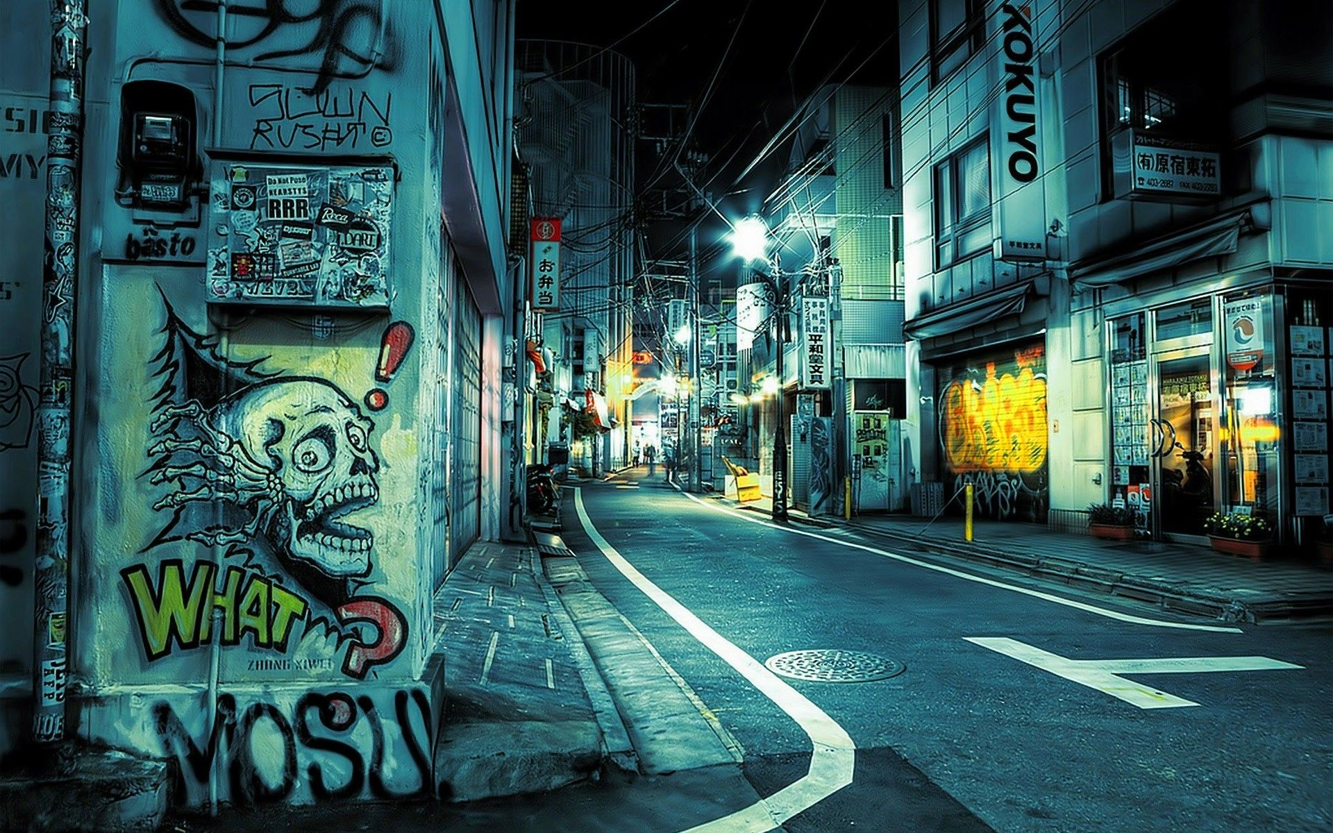 Tokyo Night Wallpaper Hd Resolution Street Graffiti Graffiti Wallpaper Street Art