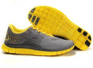2012 Nike Free Run 4.0 V2 Men Shoes Grey Yellow in 2020