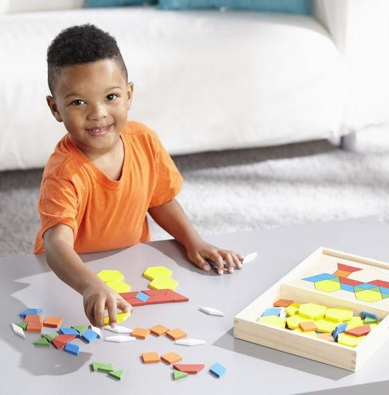 Puzzle Wood Melissa And Doug Pattern Blocks Boards 29 Classic