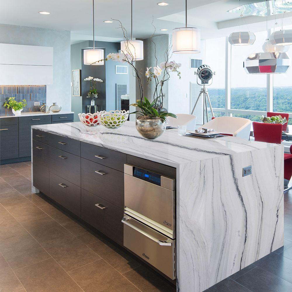Quartzite Waterfall Island Countertop Kitchen