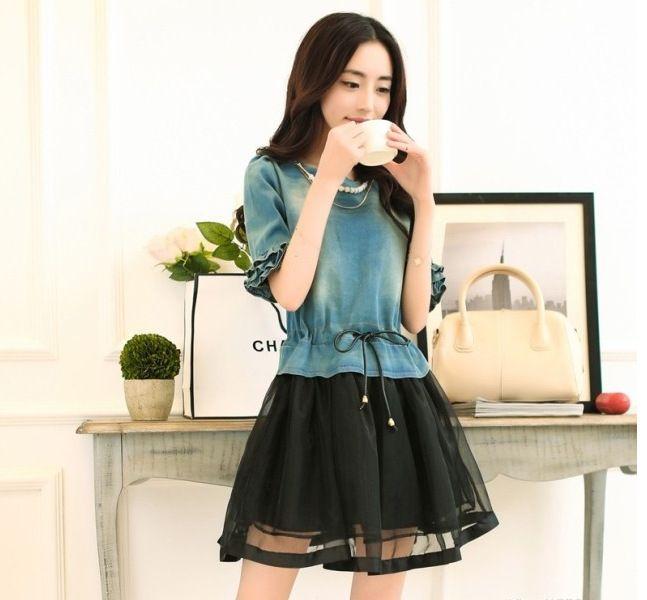vestidos de negro con bolsillos coreano - Buscar con Google